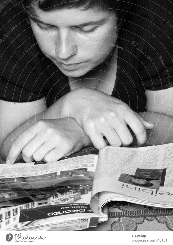 Read newspaper Newspaper Book Woman read