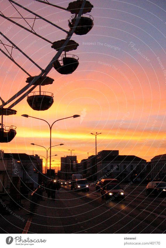 City Street Romance Vantage point Leisure and hobbies Fairs & Carnivals Dusk Brandenburg Ferris wheel Potsdam