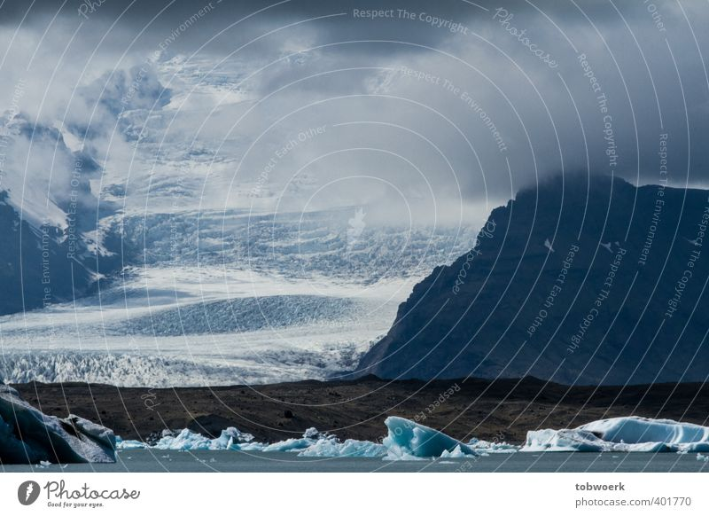 cloud glacier Nature Landscape Elements Water Clouds Ice Frost Rock Glacier Lakeside Large Infinity Cold Blue White Enormous Vatnajökull Iceland Colour photo
