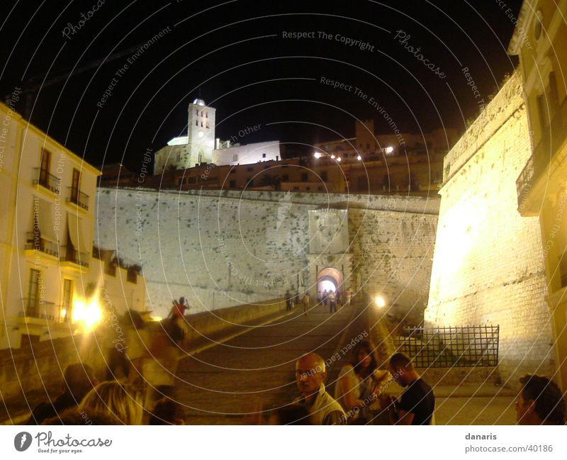 Ibiza, castle near the port, Eivissa Night Vacation & Travel Style Long exposure Europe Castle