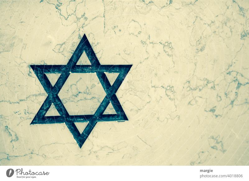 Star of David on white marble Star (Symbol) Marble Religion and faith Church Judaism Christianity Tombstone Holy Symbols and metaphors Spirituality Belief