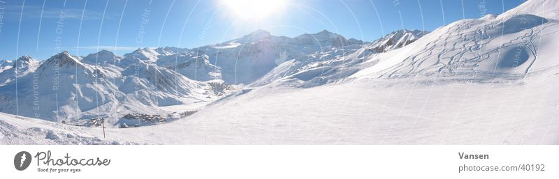 Sun Winter Snow Mountain Large Panorama (Format)