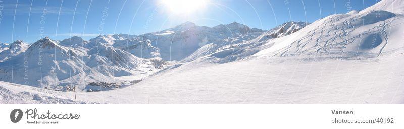 Sun Winter Snow Mountain Large Panorama (Format)