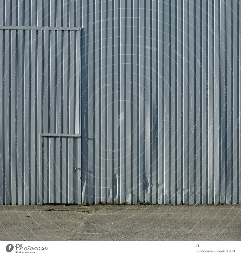 Wall (building) Architecture Wall (barrier) Building Gray Facade Door Arrangement Gloomy Safety Industry Construction site Curiosity Mysterious Factory Entrance