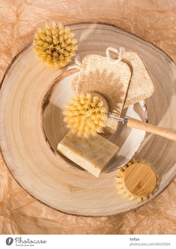 Zero waste dish washing kitchen home eco cleaning products zero sustainable brush loofah soap natural wood friendly neutral organic free plastic sponge
