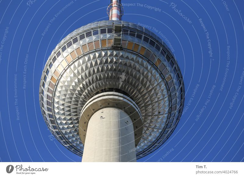 The Berlin TV Tower from below Television tower tv tower Downtown Berlin Landmark Alexanderplatz Capital city Architecture Tourist Attraction Sightseeing