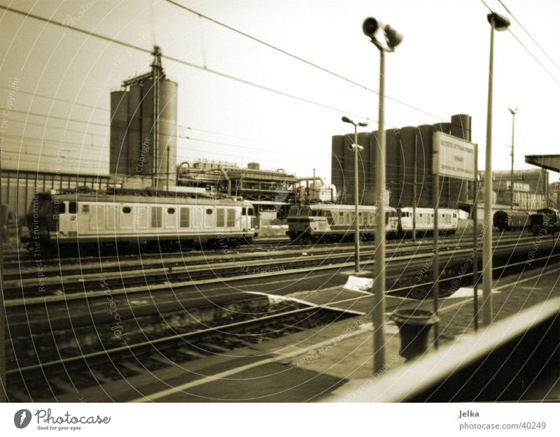 Vacation & Travel Movement Transport Railroad Italy Logistics Industrial Photography Railroad tracks Train station Milan Freight train Freight station
