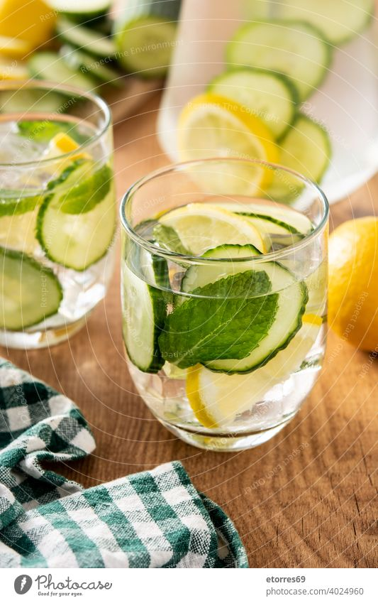 Sassy water or water with cucumber,lemon and ginger beverage care citrus cocktail delicious detox diet drink fresh glass healthy infused lemonade mint nutrition