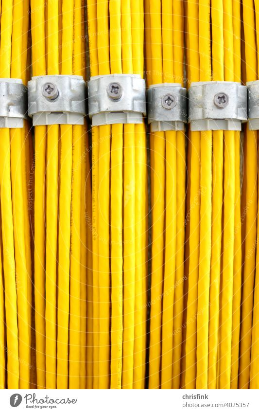 Network cable Cable Computer Ethernet LAN Yellow Transmission lines Data communication Technology Hardware Information Technology Connection Server