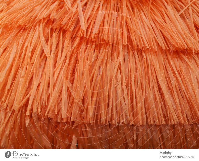 Bast skirt in bright orange at the flea market at the Golden Oldies in Wettenberg Krofdorf-Gleiberg near Giessen in Hesse, Germany Skirt Orange Fashion
