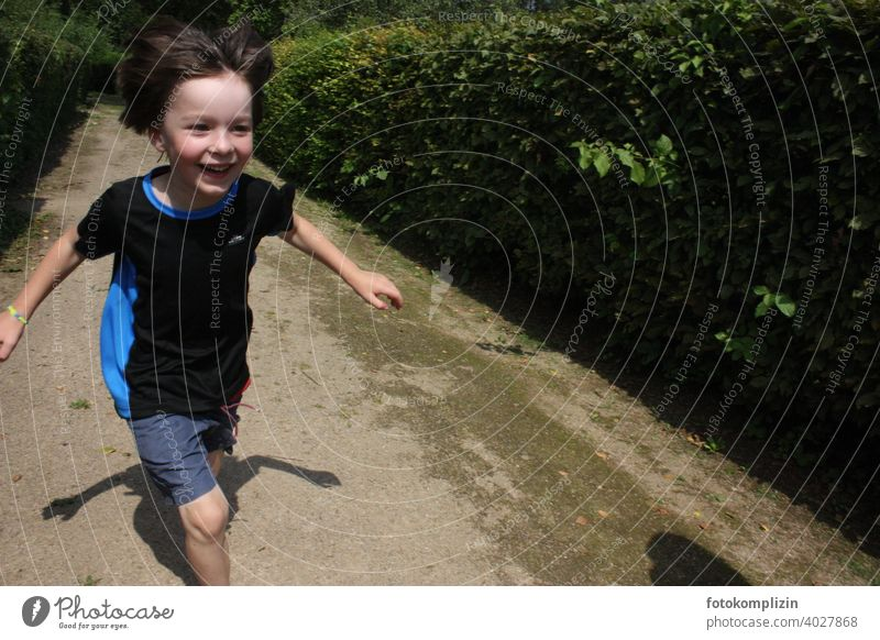 happy, laughing, running boy Joy Joie de vivre (Vitality) Child cheerful Walking move fortunate high-spirited untroubled Playing Boy (child) Infancy Laughter