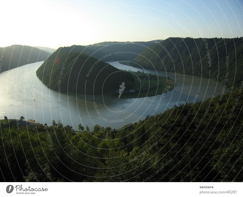 Nature Water Large Vantage point Austria Danube
