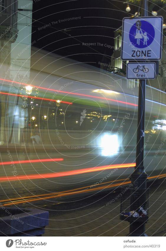 pedestrian Public service bus Pedestrian precinct Night Long exposure Augsburg Transport Bus time exposure