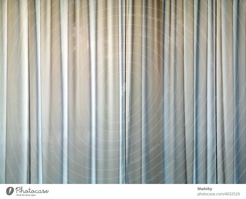 Bright curtain in pastel colors in an art museum him Bielefeld in the Teutoburg Forest in East Westphalia-Lippe Drape Cloth Curtain theatre curtain wave