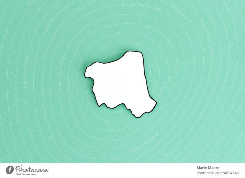 Federal state/state of Hamburg as paper silhouette Structures and shapes Neutral Background Design Federal State Silhouette Paper paper cut White Illustration