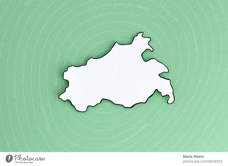 Federal state Mecklenburg-Western Pomerania as paper silhouette Neutral outline Design Minimalistic Background picture Structures and shapes Neutral Background