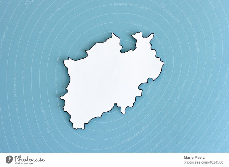 Federal state North Rhine-Westphalia Neutral outline Design Minimalistic Background picture Structures and shapes Neutral Background Paper paper cut White