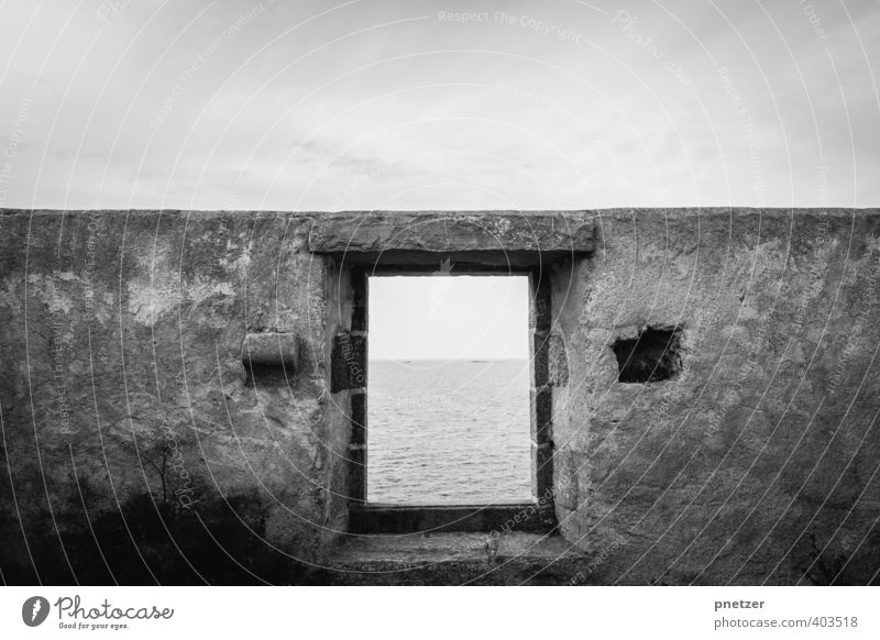 the window Environment Nature Landscape Elements Earth Sky Climate Weather Waves Coast Ocean Village Fishing village House (Residential Structure) Window