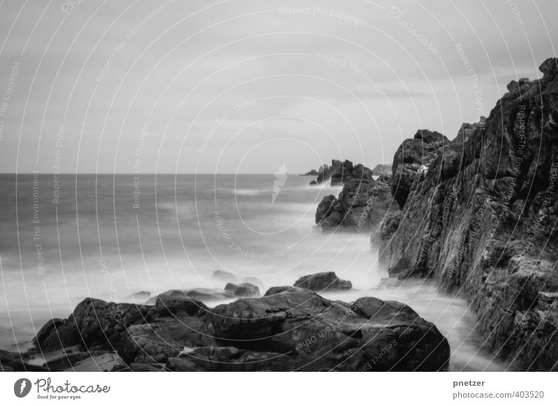brittany Environment Nature Landscape Elements Water Sky Horizon Climate Weather Rock Waves Coast Beach Bay Ocean Emotions Moody Time Long exposure