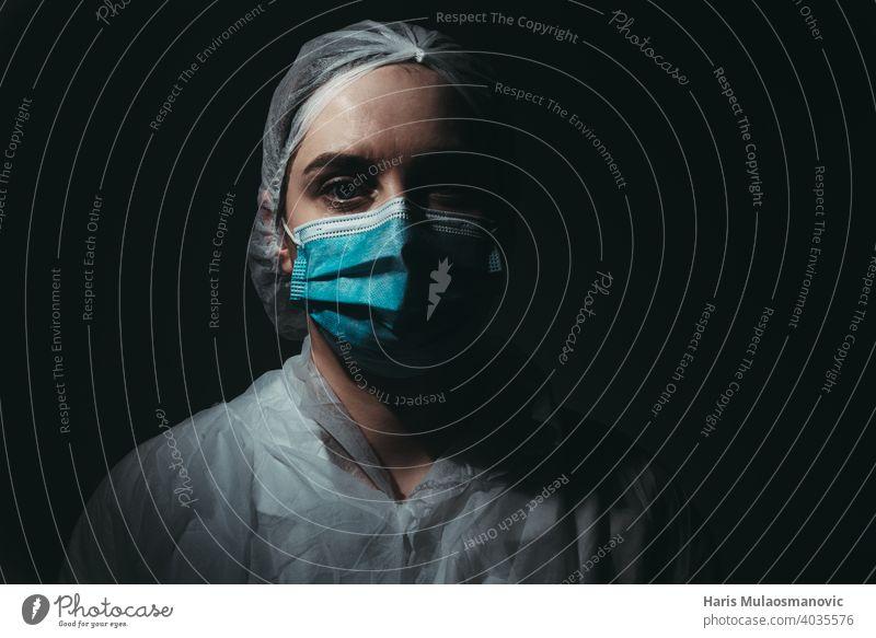 Medical worker wearing medical mask on black background air mask brazil clinic corona corona epidemic corona virus coronavirus covid-19 covid-19 test dark