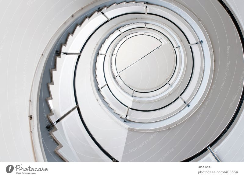 e Lifestyle Elegant Style Design Interior design Stairs Staircase (Hallway) Banister Winding staircase Bright Hip & trendy Tall Round White Beginning Esthetic