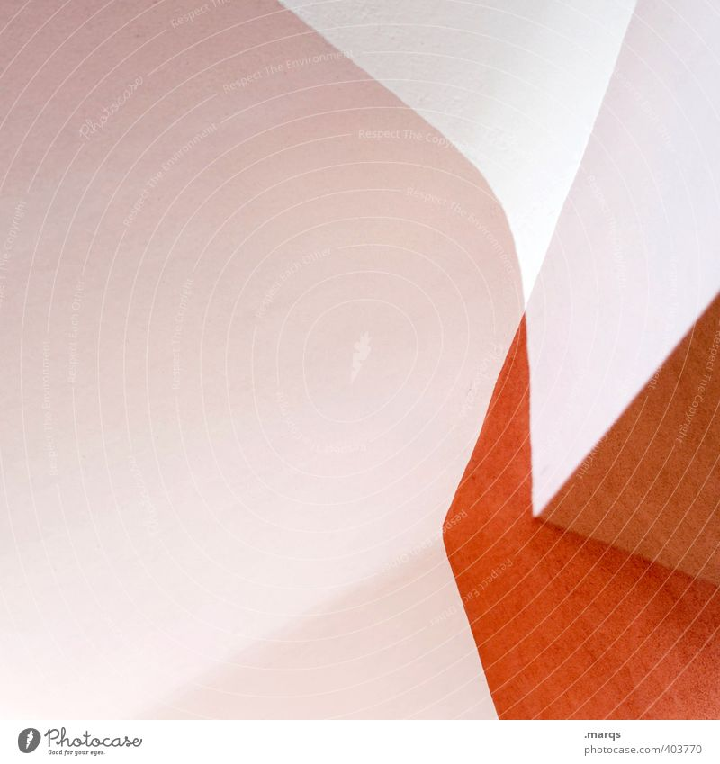 White Interior design Lifestyle Background picture Style Exceptional Design Orange Line Bright Elegant Modern Esthetic Perspective Cool (slang) Illustration
