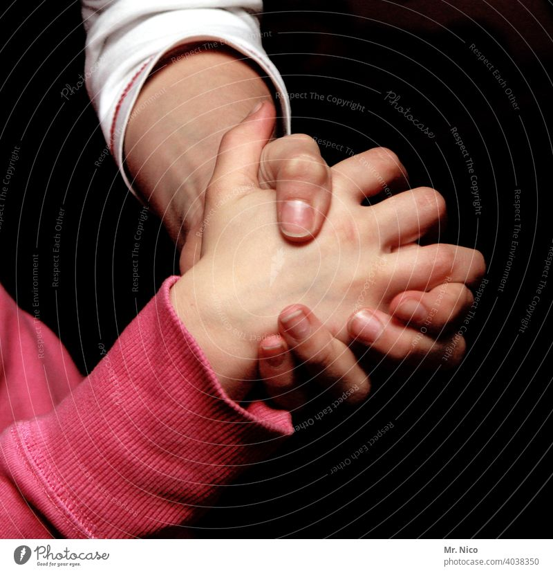 helping hand Family Parents Happy Generations hands Hand Child Mother Force Love Attachment stick together Family & Relations Emotions Friendship Loyal Help