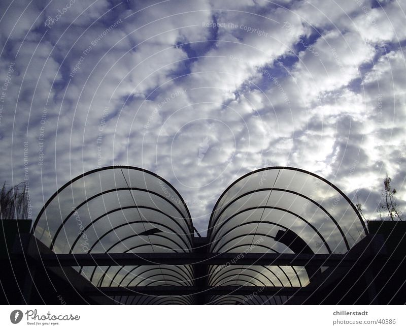 Sky Clouds Architecture Glass Round Entrance Acrylic