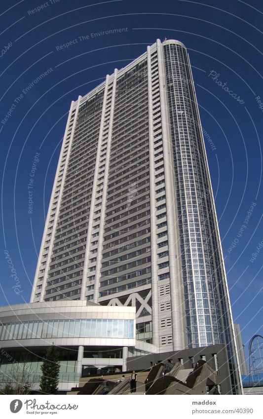 tokyo dome hotel Asia Japan Tokyo Vacation & Travel Hotel High-rise Architecture Modern Perspective kenzo tange associates multi-storey building