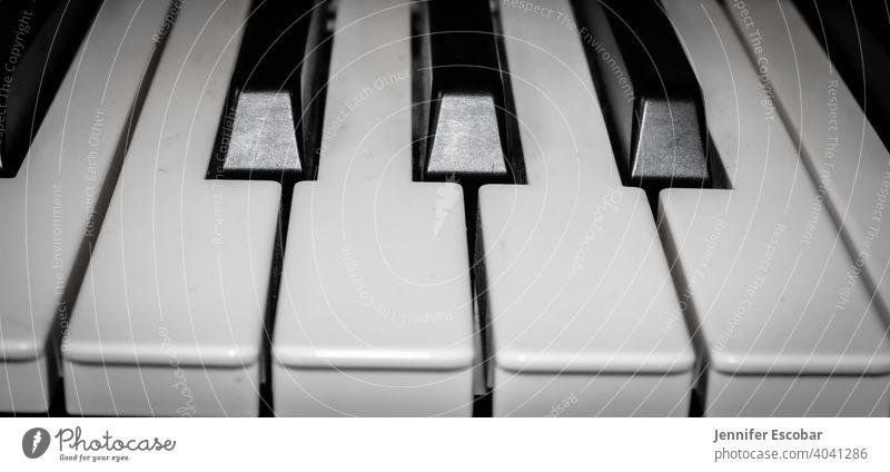 Piano Black & white photo Music monochromatic Keyboard