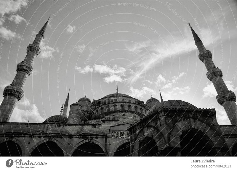 Blue Mosque in Istanbul blue mosque istanbul Islam Religion and faith Turkey Minaret Belief Building Manmade structures Architecture Historic Vacation & Travel