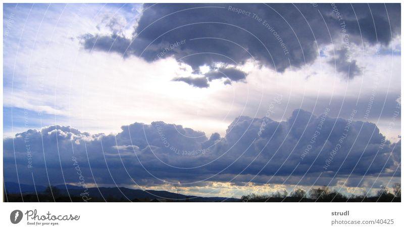 Sky Blue Clouds Rain Weather Alps Thunder and lightning Bavaria