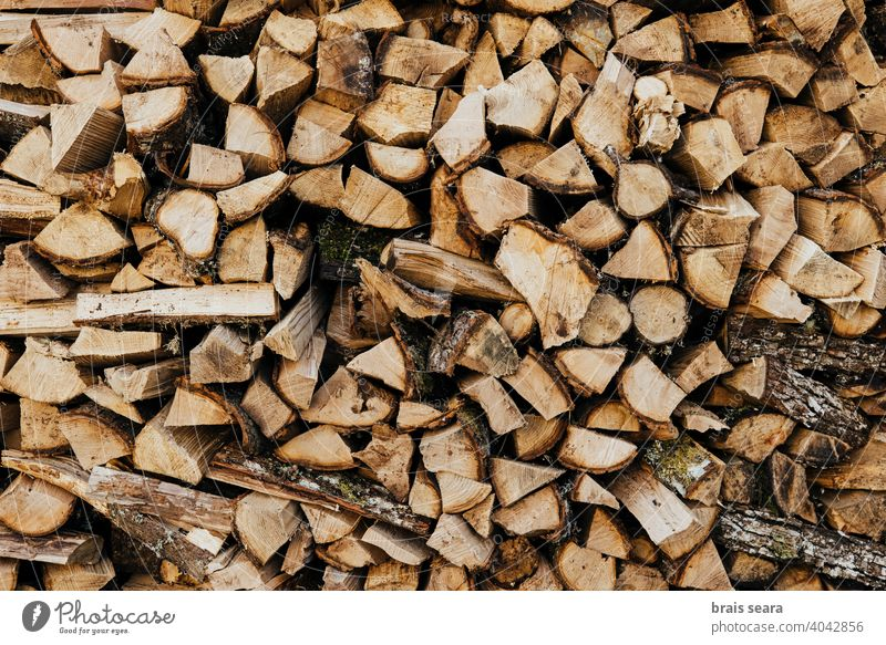 Full Frame Stack Of Logs log logs stack tree energy season winter lumber yard nature ecology rustic raw backdrop natural wood pile abstract textures trees stock