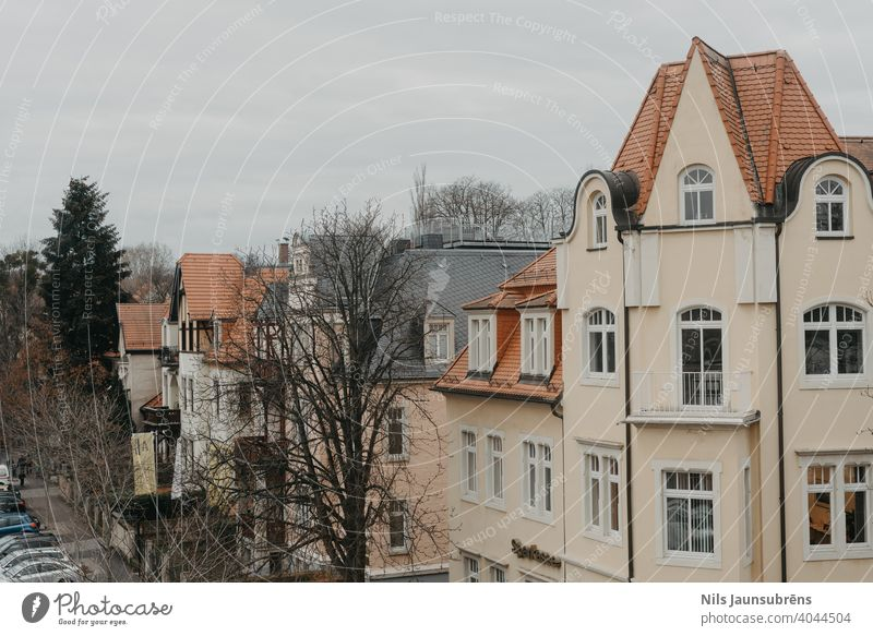 View from window to city in Germany building fall germany house old town tree architecture europe landmark cityscape european travel scenic downtown tower