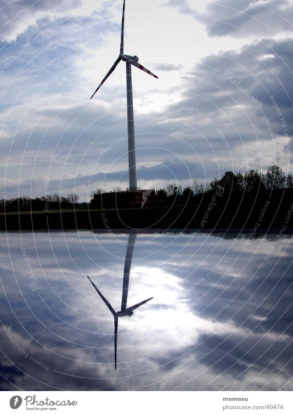 mirroring Reflection Field Industry Wind energy plant Sky