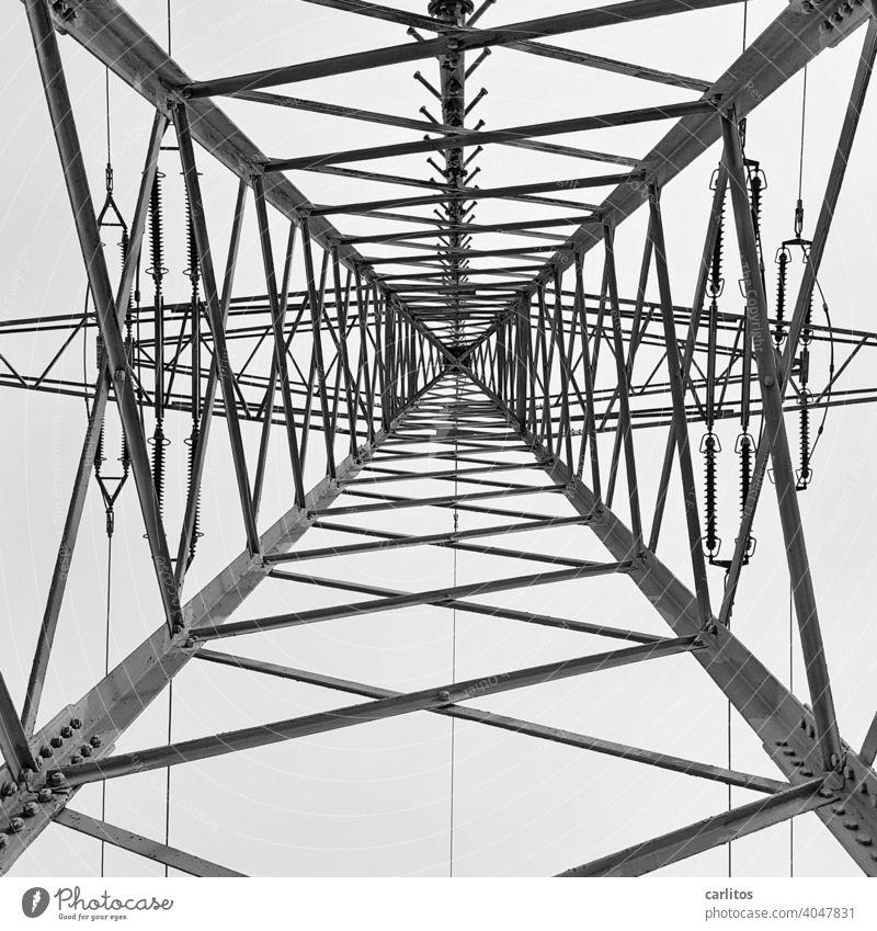 Power pole | CO2 ... I am so free co2 Carbon dioxide stream Electricity pylon Energy energy revolution alternative energy Energy industry Technology Sky