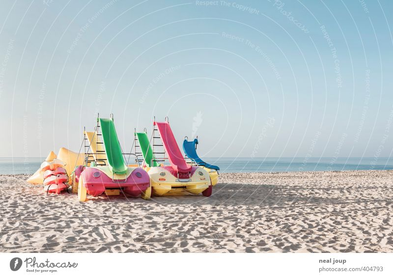 Tourism - Serving suggestion Joy Vacation & Travel Summer vacation Beach Aquatics Cloudless sky Portugal Toys Swimming & Bathing Playing Happiness Anticipation