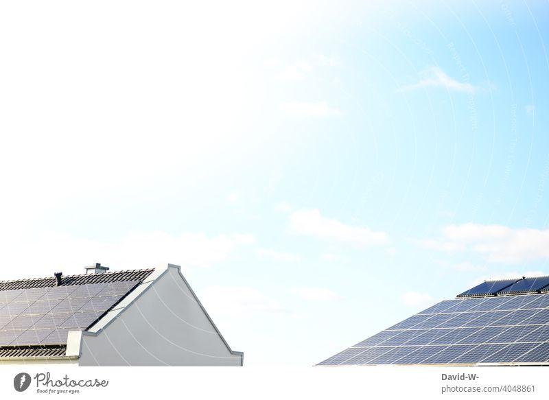 Roofs produce solar energy Renewable energy Solar Energy photovoltaics Climate heat source energy saving environmentally conscious photovoltaic system