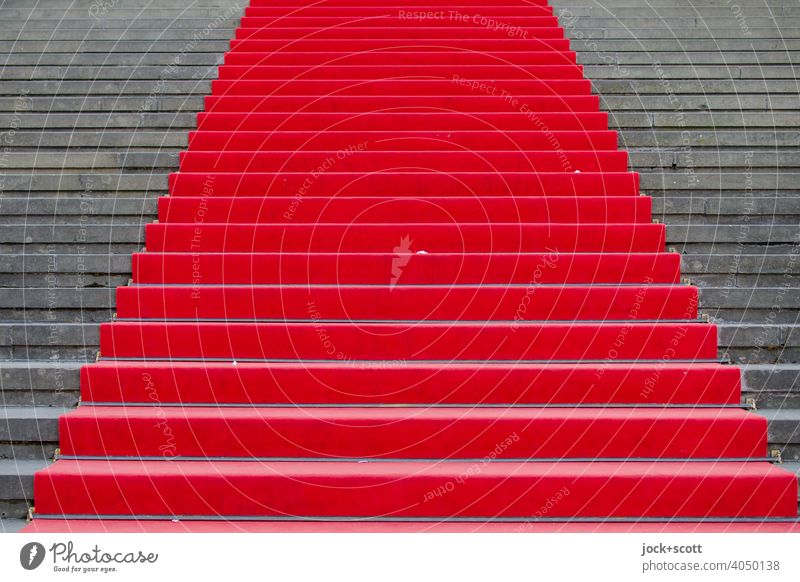 simply a red carpet Culture Red carpet Stairs Reliability Honor Success Symmetry Lanes & trails Pecking order Structures and shapes Neutral Background