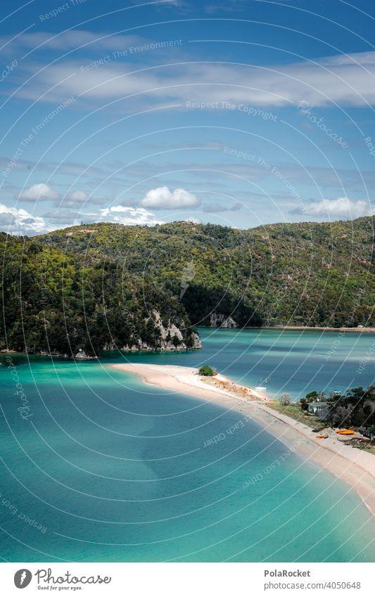 #AS# One Day In Paradise II Ocean Sand Sandy beach kayaking Abel Tasman National Park New Zealand Blue Green Nature Landscape Exterior shot Summer Water Tourism