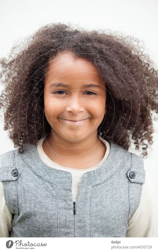 Pretty girl eight years old with beautiful hair young outside child cute kid african little adorable pretty black female portrait childhood person happy toddler