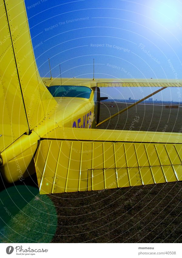 Yellow Airplane Aviation Stern Airfield