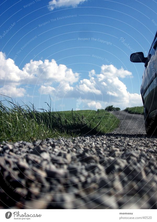 on the road again Field Clouds Spring Transport Street Lanes & trails Sky Far-off places Perspective