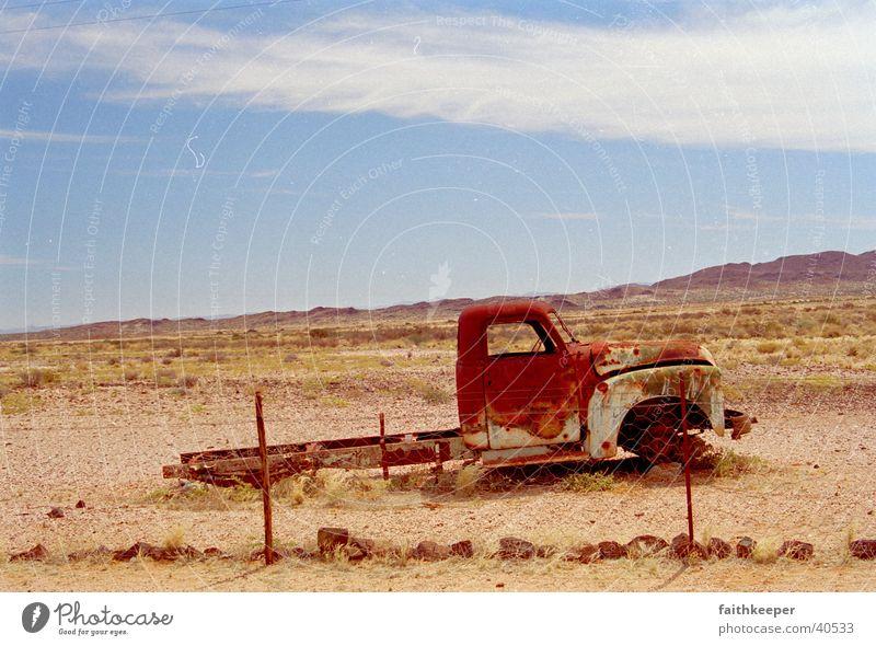 road truck Africa Clouds Desert Truck Blue sky Landscape