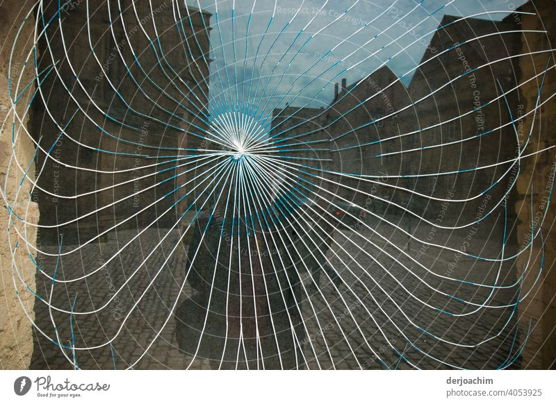Where the photographer appears, the discs jump. ( Selfie ) Window pane Glass Reflection Slice Pane Building Exterior shot Architecture Facade Colour photo Day