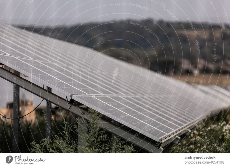 Solar panel, photovoltaic, alternative electricity source - concept of sustainable resources solar clean ecology blue environment environmental technology