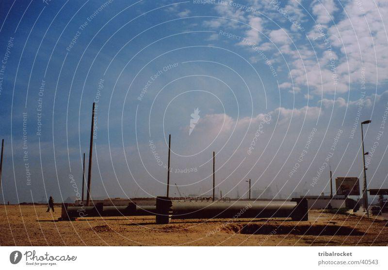 Casablanca001 Morocco Beach Moral Blue sky little clouds