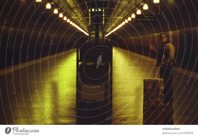 Oslo001 Norway Underground Suitcase Europe Underpass tribal rocket greenish light