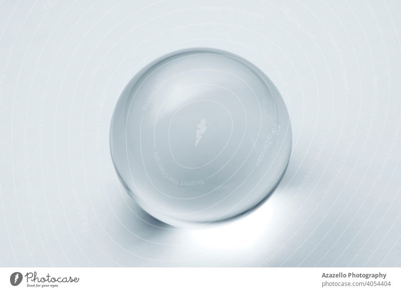 Glass ball with reflection in silver blue tone. 3d abstract art artwork background black bright bubble business circle clairvoyant clean closeup cold concept