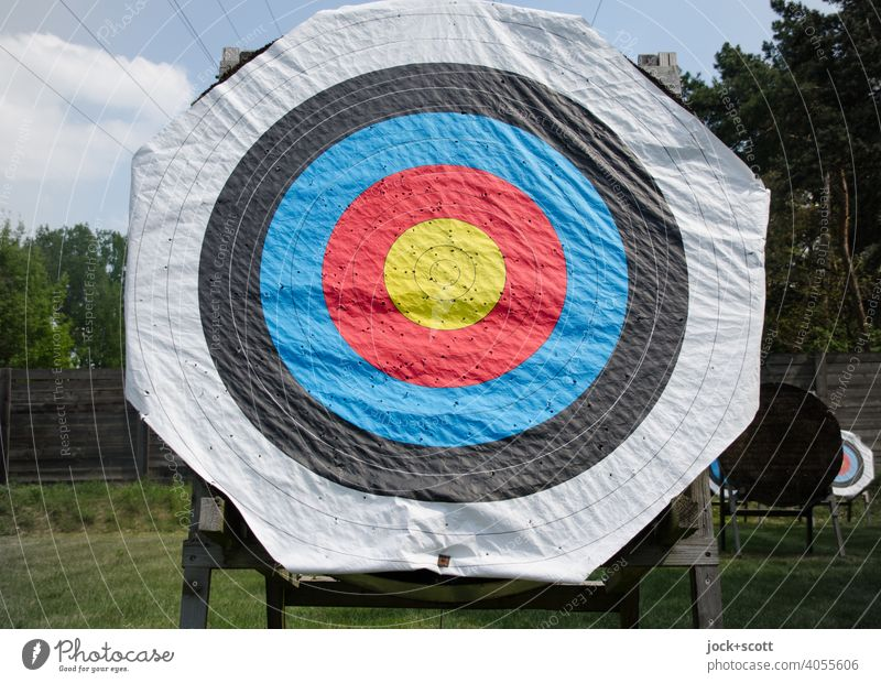 Targets for archery Archery Pillar Leisure and hobbies Accuracy Paper support Shooting range Circle Second-hand holey crimped Strike Center point circles